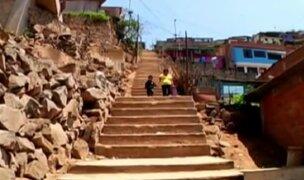 Las escaleras más peligrosas en los cerros de Lima