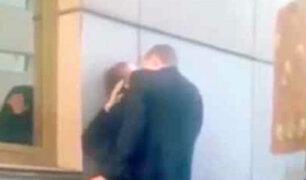 YouTube: Una apasionada pareja es sorprendida de la peor forma en Rusia [VIDEO]