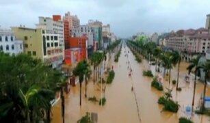 China: paso del tifón 'Sarika' causas inundaciones y graves daños