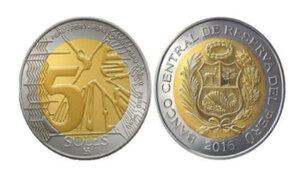 Banco Central de Reserva pone en circulación nueva moneda de 5 soles