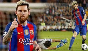"Con ""hat-trick""  de Messi, Barcelona goleó 4-0 al Manchester City"