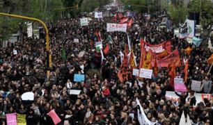 Ni una menos: miles de argentinos protestaron en contra del feminicidio