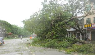 Tifón 'Sarika' afecta el sur de China