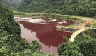Río se tiñe color sangre en Guatemala