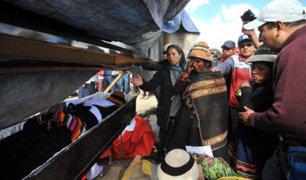 Las Bambas: después de seis días sepultan a comunero Quintino Cereceda