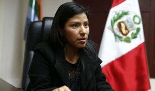 Indira Huilca exige que Héctor Becerril sea desaforado del Congreso