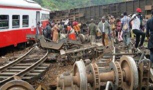 Descarrilamiento de tren deja más de 50 muertos en Camerún