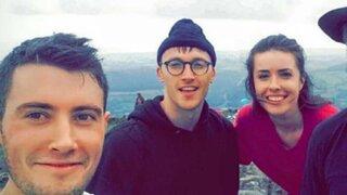 Excursionistas se encontraron con una estrella de Hollywood en Irlanda