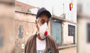 El Agustino: humo tóxico de incendio sigue afectando a vecinos