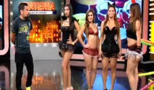 Sexy Halloween: bellas modelos cumplieron reto en La Batería