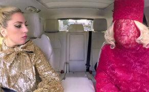 Lady Gaga se luce en divertido karaoke junto a James Corden
