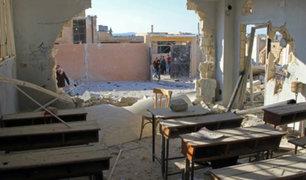 Siria: 22 niños y 6 profesores mueren tras bombardeo sobre escuela