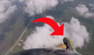 YouTube: Paracaidista pierde zapatilla en pleno salto, pero luego pasa algo increíble [VIDEO]