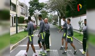 Universitario de Deportes: jugadores realizan caminata por calles