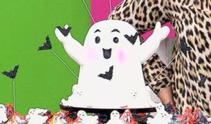 Aprende a preparar una torta en forma de fantasma para Halloween