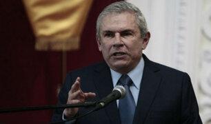 """Castañeda Lossio sobre tema Saavedra: """"Los líderes de ambos grupos políticos deben dialogar"""""""