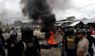 Iquitos: invasores se enfrentan a policías para evitar desalojo