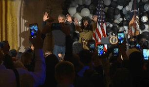 "Facebook: mira como Barack y Michelle Obama bailan ""Thriller"""