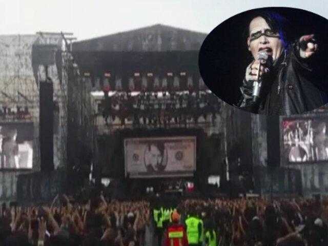Marilyn Manson sufrió caída durante concierto