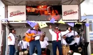 Así celebraron el Día de la Canción Criolla en Barrios Altos