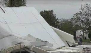 Vientos huracanados causan graves daños materiales en Uruguay