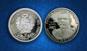 BCR: emite nueva moneda alusiva a los 200 años del nacimiento de Francisco Bolognesi