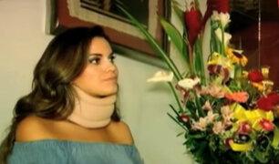 Valeria Piazza se recupera del accidente automovilístico que sufrió