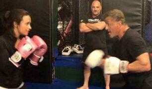 Instagram: Demi Lovato noqueó de un derechazo a Sylvester Stallone [VIDEO]