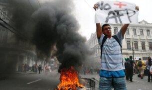Chile: caos en Santiago por violento paro contra sistema de pensiones