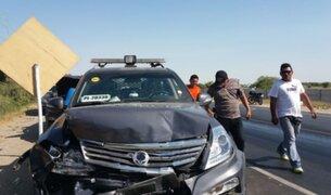 Piura: dos policías resultan heridos tras choque de patrulleros