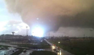 Violento tornado dejó dos muertos en Italia