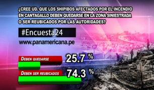 Encuesta 24: 74.3% cree que shipibos del Cantagallo deben ser reubicados