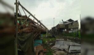 Iquitos: viviendas afectadas por fuertes vientos y lluvias torrenciales