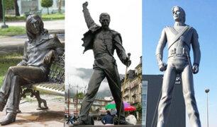 Famosos cantantes tienen sus propias estatuas