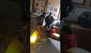 YouTube: Adolescente le da un puñetazo a su maestra pero es noqueado por otro alumno [VIDEO]