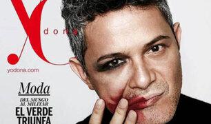 Alejandro Sanz se maquilla para campaña contra la violencia de género