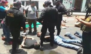 Detienen a delincuentes que robaron mercadería de camión en Carmen de La Legua