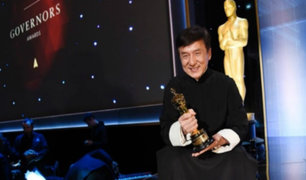 Jackie Chan recibió premio Oscar honorífico
