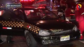 Miraflores: hombre queda atrapado en vehículo tras accidente