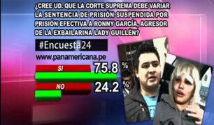 Encuesta 24: 75.8% cree que la Corte Suprema debe dictar prisión efectiva a Ronny García