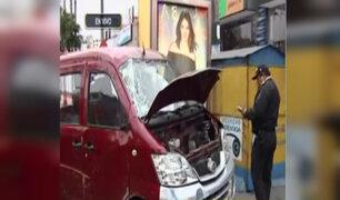 Pueblo Libre: taxista herido tras choque vehicular