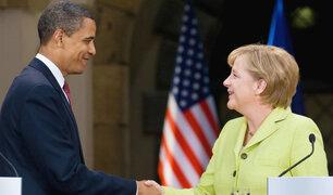 Barack Obama se reunió con la canciller alemana Angela Merkel