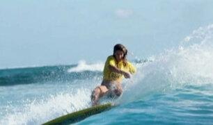 Peruana Brissa Málaga entre las mejores del mundial ISA en Fiji
