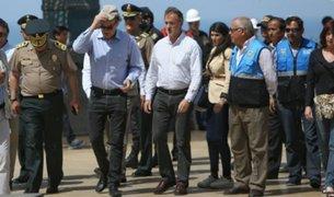 Alcalde de Miraflores y ministro del Interior inspeccionaron Larcomar tras incendio