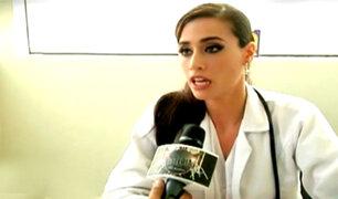 Giuliana Zevallos y su faceta de médico cirujano en el Hospital Naval