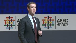 Mark Zuckerberg inició jornada de APEC CEO Summit 2016