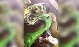 Impactantes imágenes: mujer agrede con una navaja a futbolista