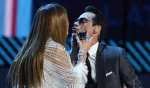Latin Grammy: el beso de Marc Anthony y Jennifer López tras emotivas palabras