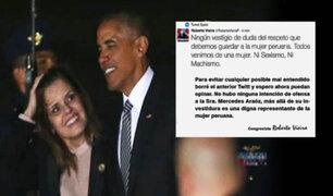 Roberto Vieira se disculpa por tuit agraviante hacia Mercédez Aráoz