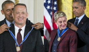 Obama condecora a famosos y ellos lo celebran con épico Mannequin Challenge